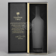 Super Premium Gift box - Side Hinge, Gold recess, textured surface, custom bottle profile insert