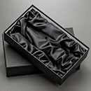 Wine Gift Boxes -Two Bottle Lid & Base Gift Box Satin fabric decoration